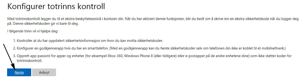 ae03049a Aktiver 2-trinns bekreftelse på Outlook/Hotmail - Nettvett.no